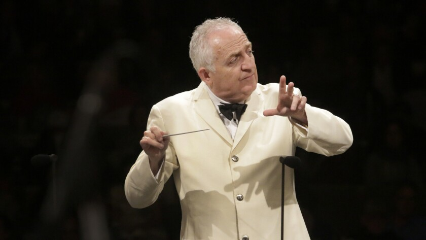 Bramwell Tovey will lead the LA Phil in a selection of works by British composers at the Hollywood Bowl on Tuesday.