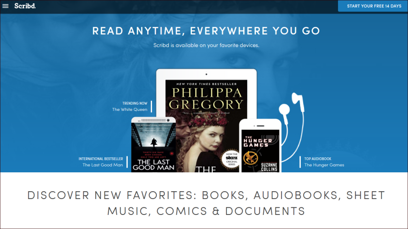 """Originally a legal file-sharing site, Scribd launched its e-book subscription service in 2013, jockeying for position alongside fellow """"Netflix for books"""" wannabes Oyster, Entitle and Amazon's Kindle Unlimited."""