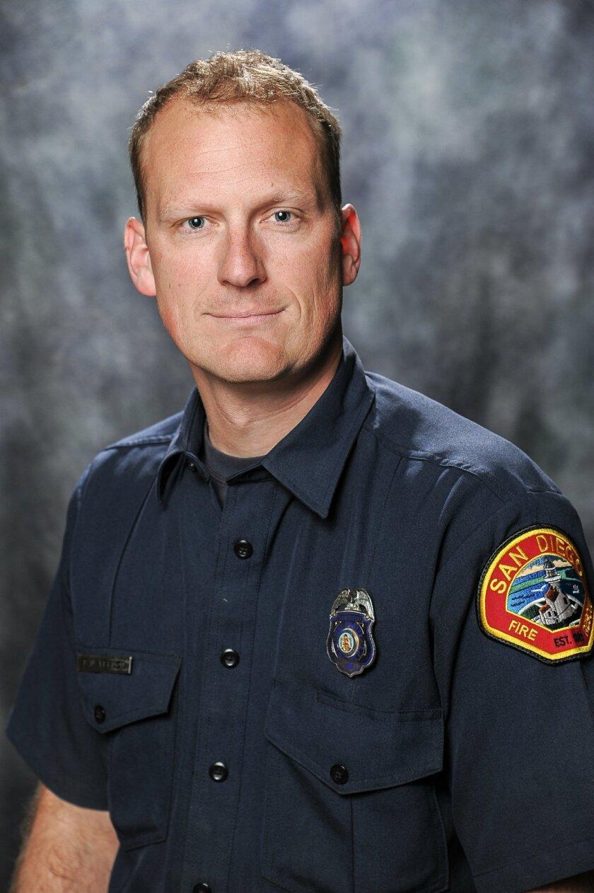 San Diego firefighter Benjamen Vernon