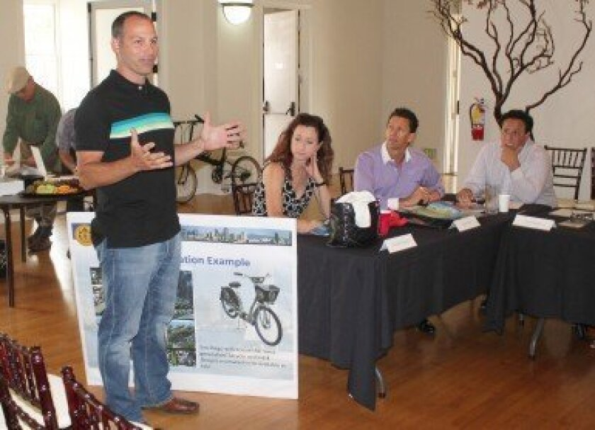 Ed Clancy, program manager for bicycle initiatives with the City of San Diego, discusses the city's proposed bike share program, to include 12 to 15 stations in La Jolla where bikes can be rented with a credit card.  Pat Sherman