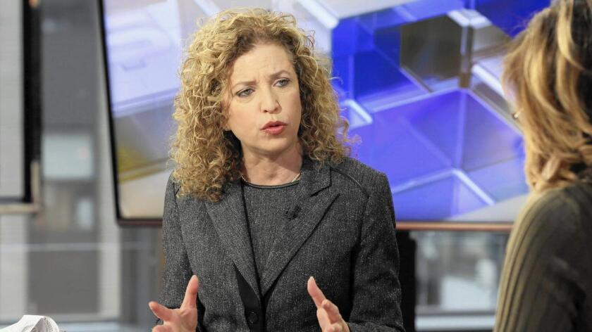 Debbie Wasserman Schultz. presidente del Comité Nacional Demócrata (DNC).