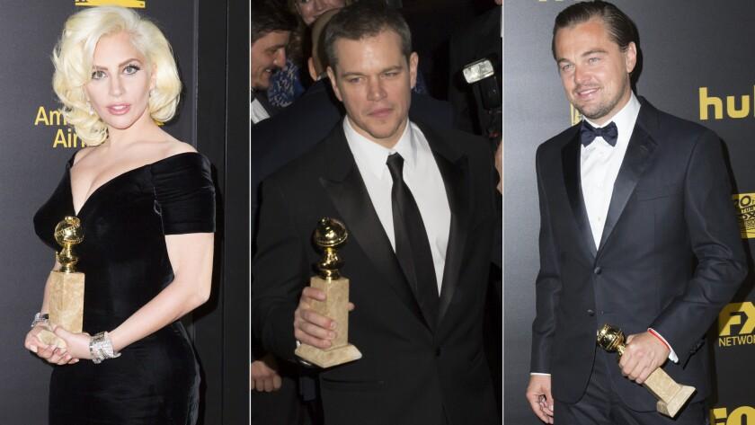 Lady Gaga, Matt Damon and Leonardo DiCaprio were among the Golden Globe winners headed into the Fox / FX after party on Sunday night.