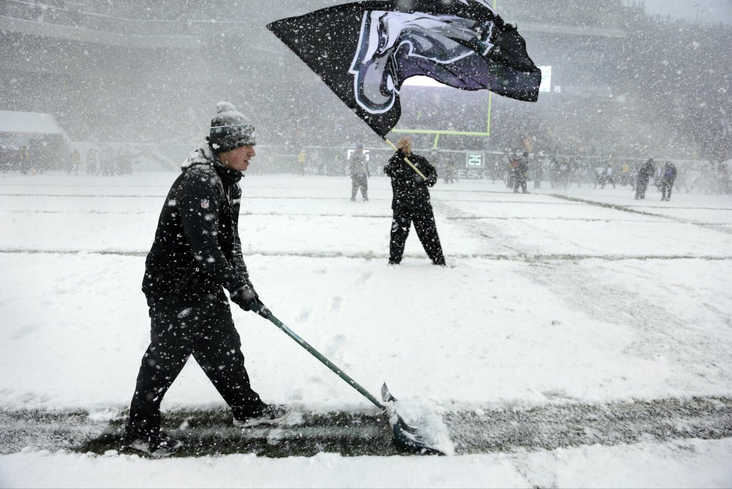 Snow can't stop football