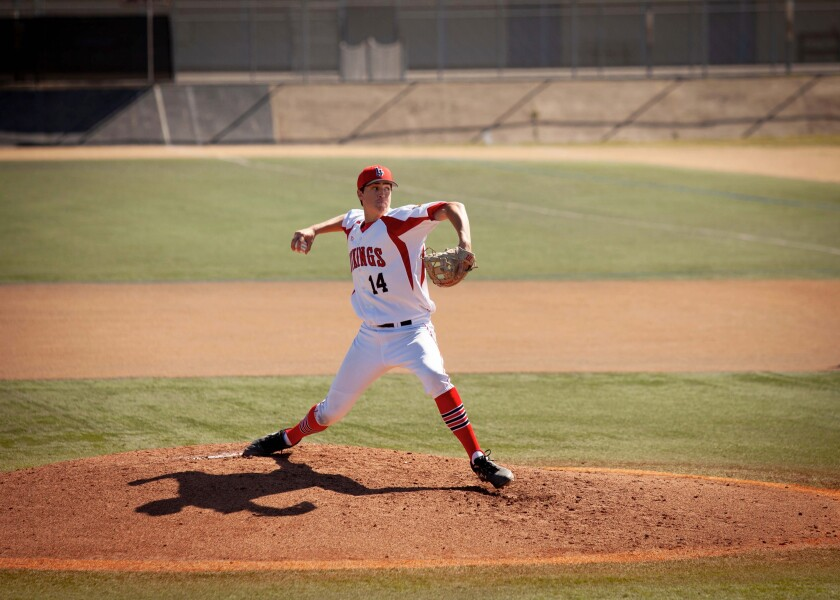 La Jolla High School pitcher Gavin Graff this season hurled the Vikings' first complete-game no-hitter since 2008.
