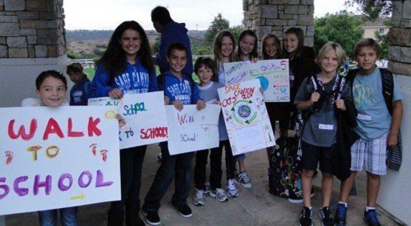 International Walk to School Day at Sage Canyon (Photo: Carolyn Dunn)