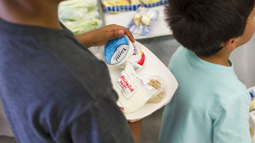 The Sweetwater Union High School District will serve lunch meals to children under the age of 18 at no cost through June 29.