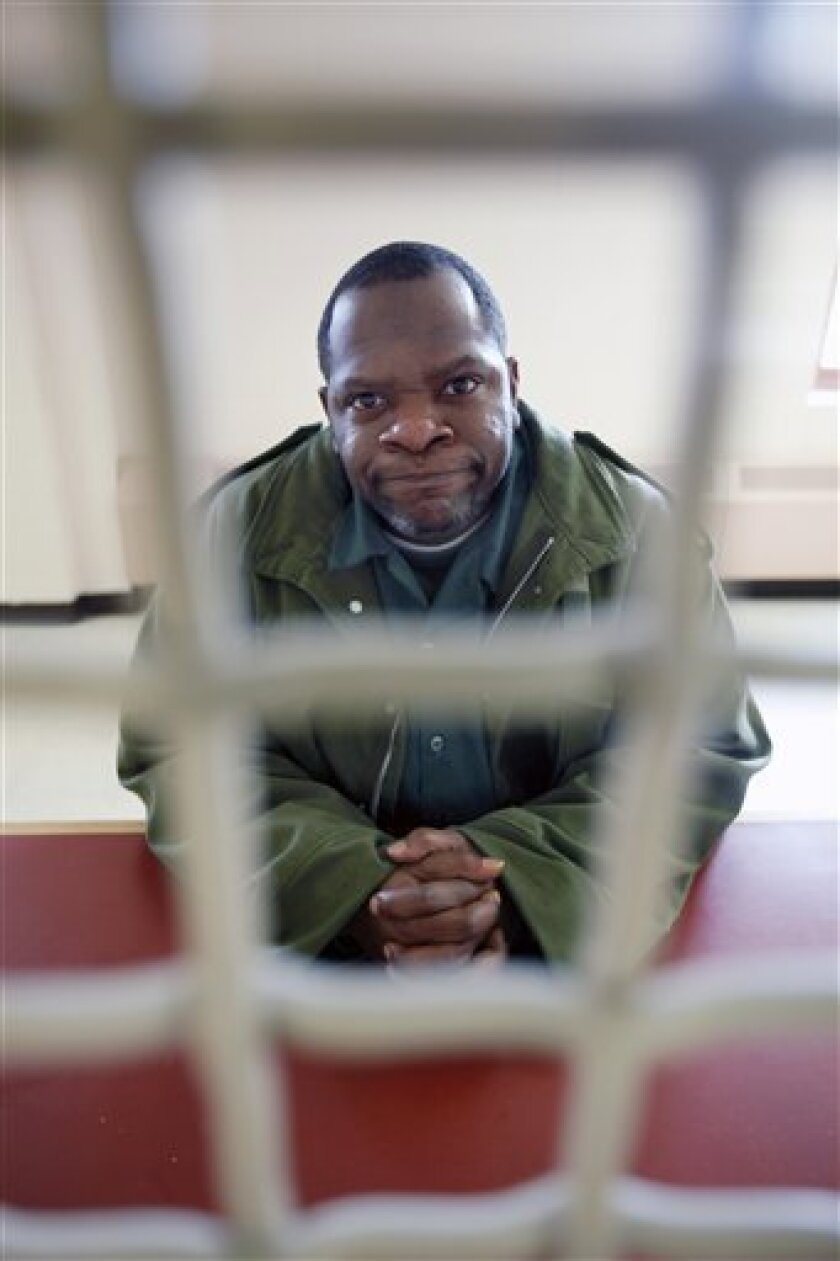 This Dec. 16, 2008 photo shows Eddie Williams in the visitor area at the Albion Correctional Facility in Albion, N.Y. Williams took part in a special re-entry program designed to help even high-risk convicts adjust better once released from a New York prison. (AP Photo/David Duprey)