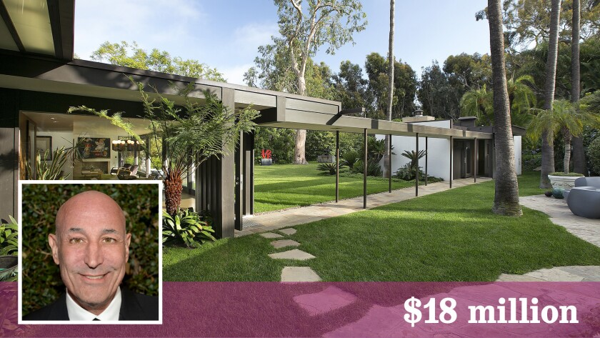 """The Richard Neutra-designed Baily Case Study House and a contemporary home make up the estate of the late """"Simpsons"""" co-creator Sam Simon in Pacific Palisades."""