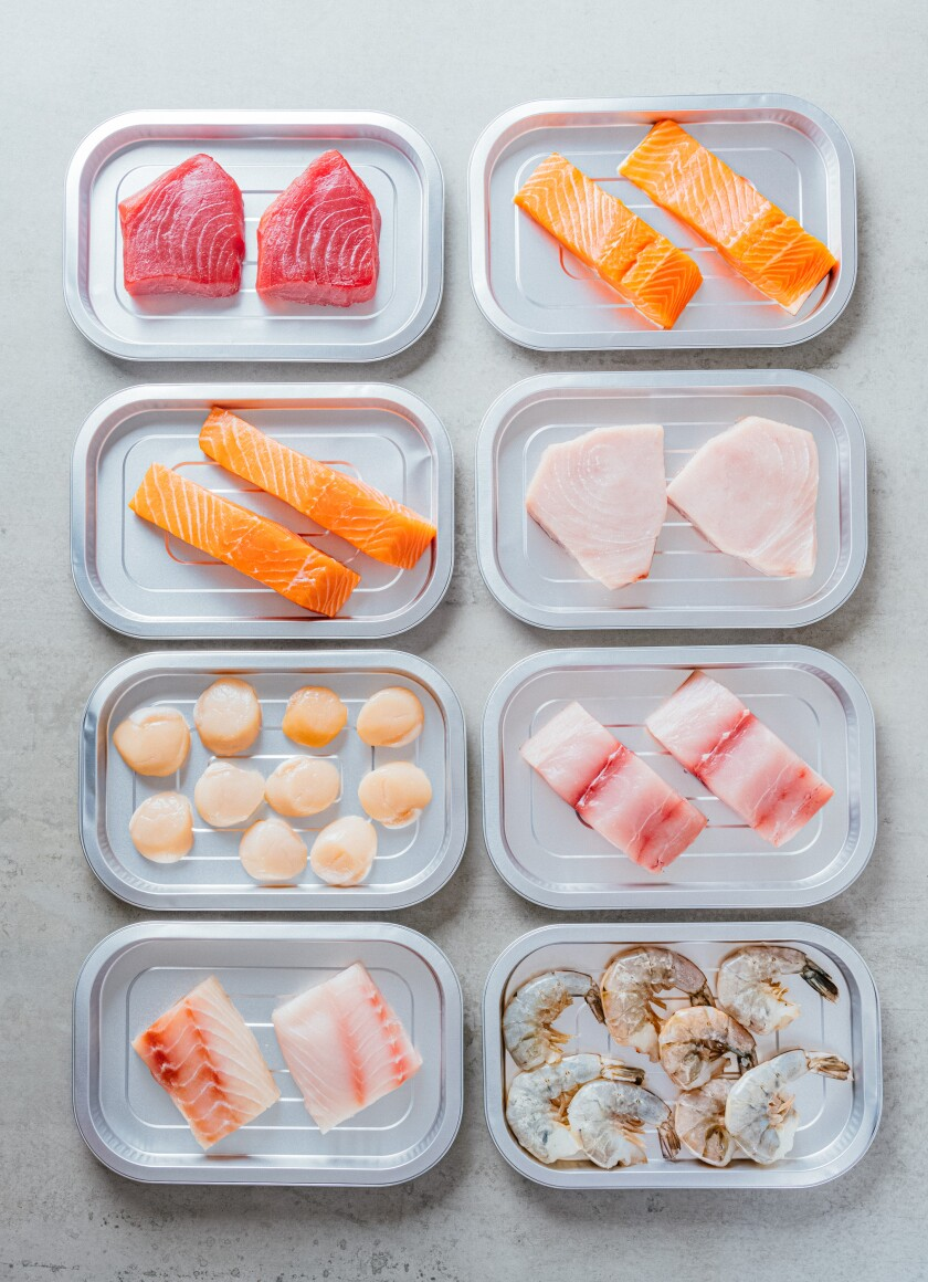 Vacuum-sealed PureFish seafood trays are rolling out in several San Diego supermarkets this summer.
