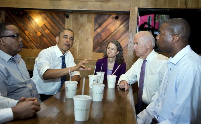President Obama at the Shake Shack