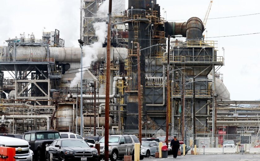 An oil refinery in Torrance, now owned by PBF Energy, is surrounded by residential neighorhoods where concern about safety is growing.