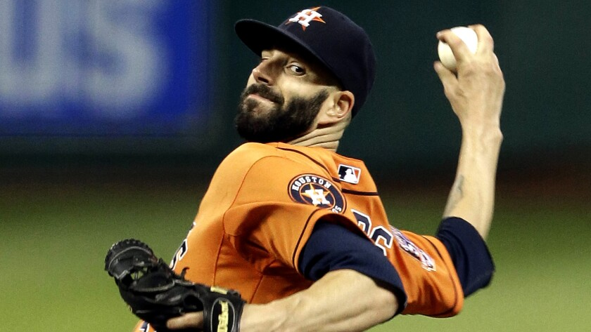 Astros starter Mike Fiers threw a career-high 134 pitches while no-hitting the Dodgers on Friday night in Houston.