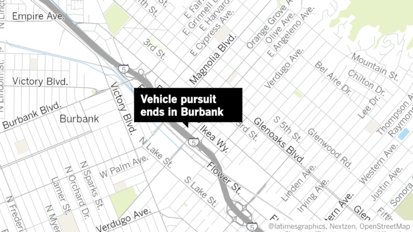 An Alabama took Burbank police and California Highway Patrol on a chase through the Los Angeles-area on Wednesday night after allegedly assaulting an officer with his car.