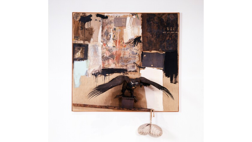 """""""Canyon,"""" from 1959, assemblage by 20th century painter and sculptor Robert Rauschenberg."""