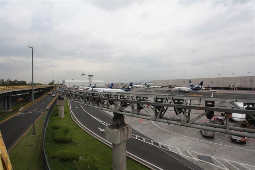 Vista general de las pistas del Aeropuerto Internacional de Ciudad de México (México). EFE/Archivo