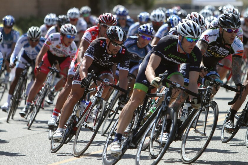 Professional and Class 1 cyclists compete in the 2011 Grand Prix race during the Tour de Murrieta in Murrieta.