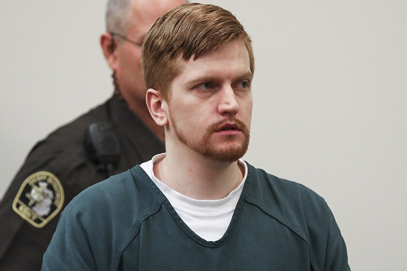Jared Chance enters a courtroom in Grand Rapids, Mich., for his sentencing on Thursday.