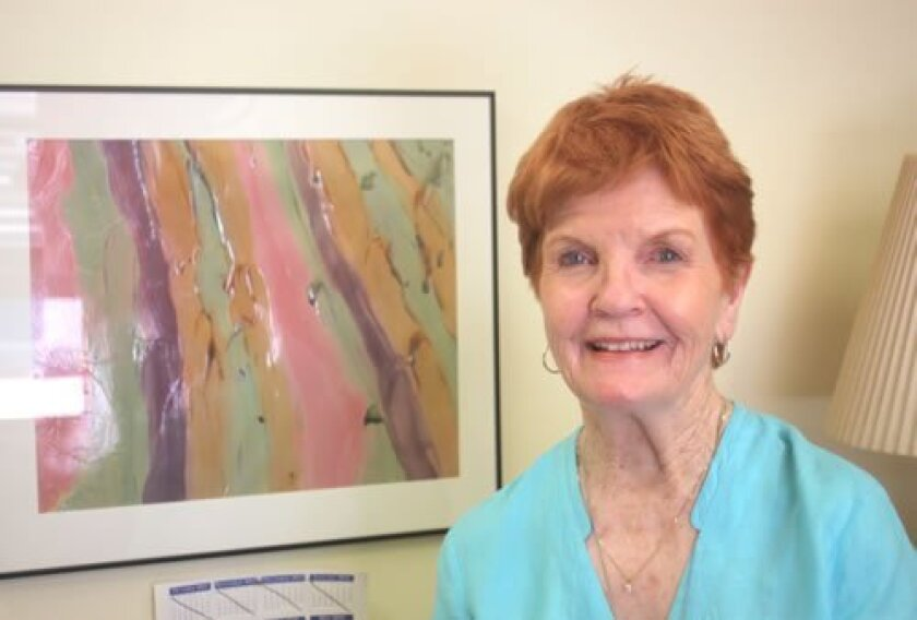 Betty Hilbert had a painting made by a student at her desk for many years. Ashley Mackin