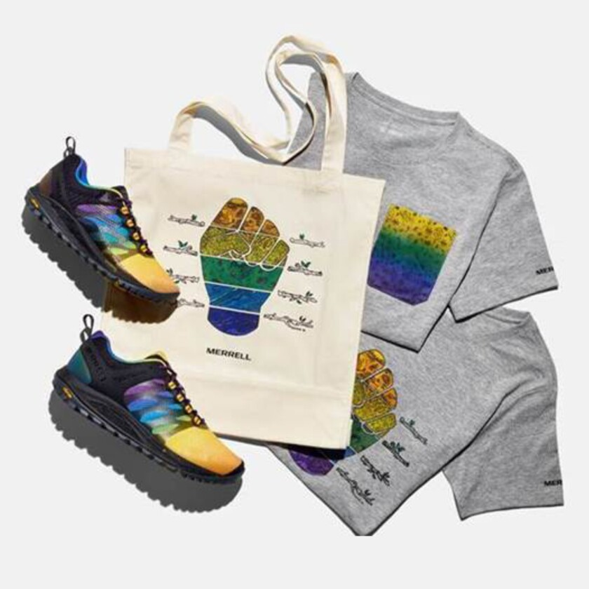 Merrell collaborative designs by artist Latasha Dunston are out this week.