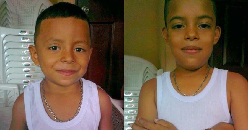 Brandon Isaac (5 años) y Jorge Luis (10) son dos de los tres menores no acompañados centroamericanos detenidos en Tijuana, México.