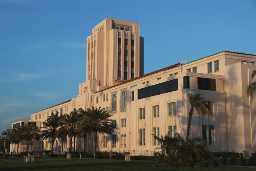 The San Diego County Administration Center.