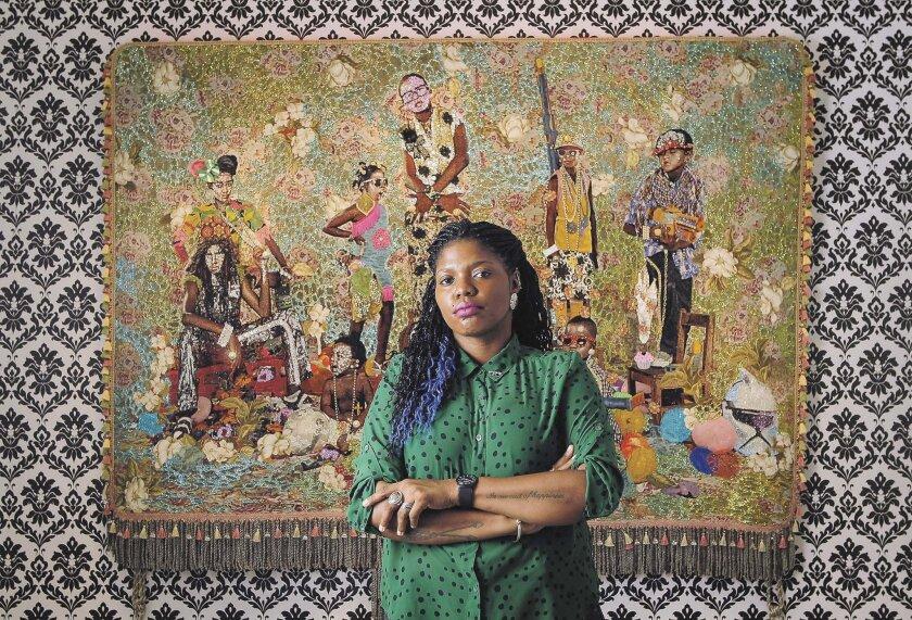 Artist Ebony G. Patterson at Lux Art Institute. Photo: Hayne Palmour IV/U-T San Diego