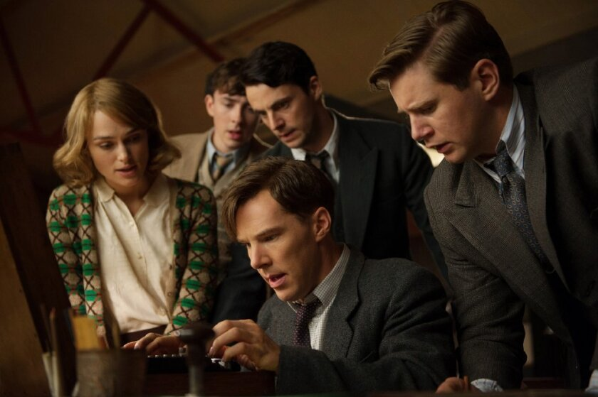 """A scene from the film """"The Imitation Game."""""""