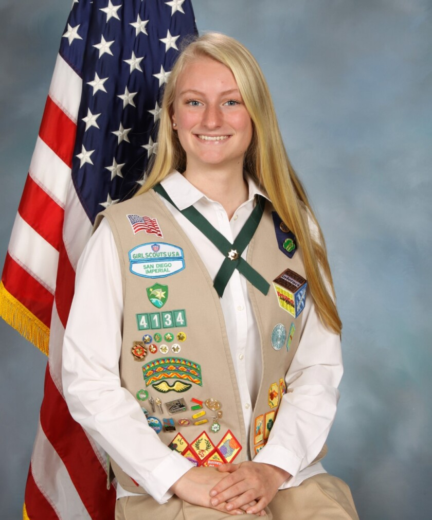 Laura Bryant's Girl Scout Gold Award project 'Values Ed, Student Led,' focused on helping students develop leadership traits.