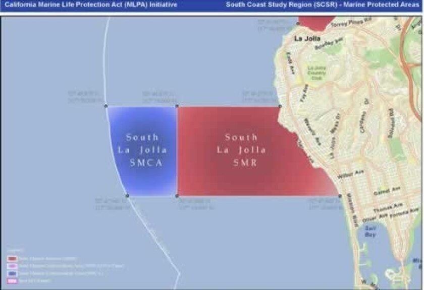 The new La Jolla Marine Protected Area, where it is illegal to fish or remove any wildlife.