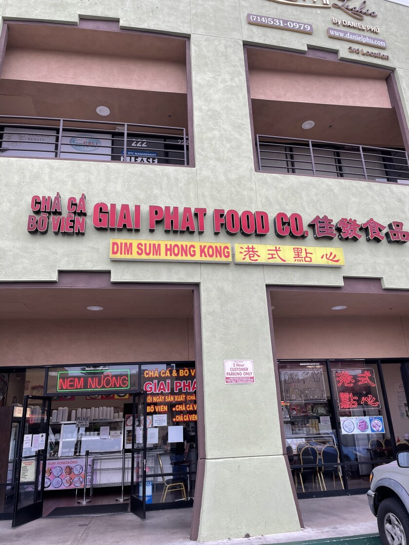 Giai Phat Food Co. occupies its own storefront in Westminster.