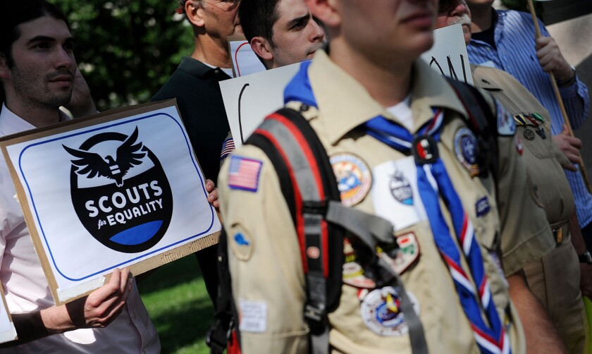 Ban on gay scouts
