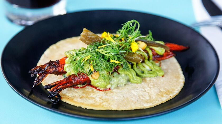 The baby carrot adobada taco at Lola 55 sums up the new East Village restaurant in a tortilla: healthy, creative and elevated in a chef-y way.