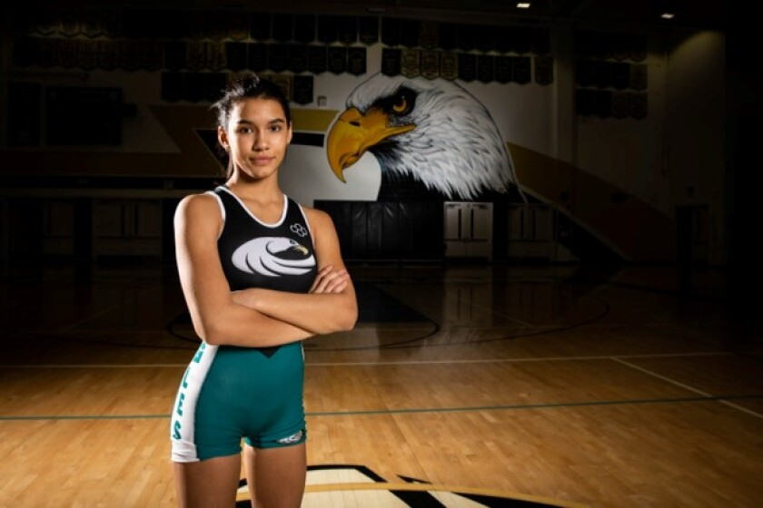 Olympian's Yesenia Deguire moved to 34-3 at 113 pounds when she took just 44 seconds to add that weight class to the 108 crown a year ago.