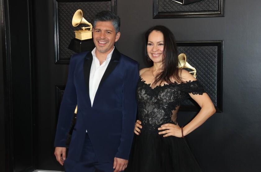Rodrigo Sánchez and Gabriela Quintero of Rodrigo y Gabriela at the 62nd Grammy Awards