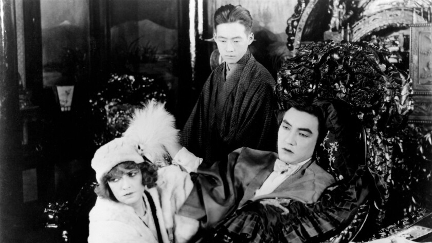 The Cheat (1915) Directed by Cecil B. DeMille Shown from left: Fannie Ward, Yutaka Abe, Sessue Hay
