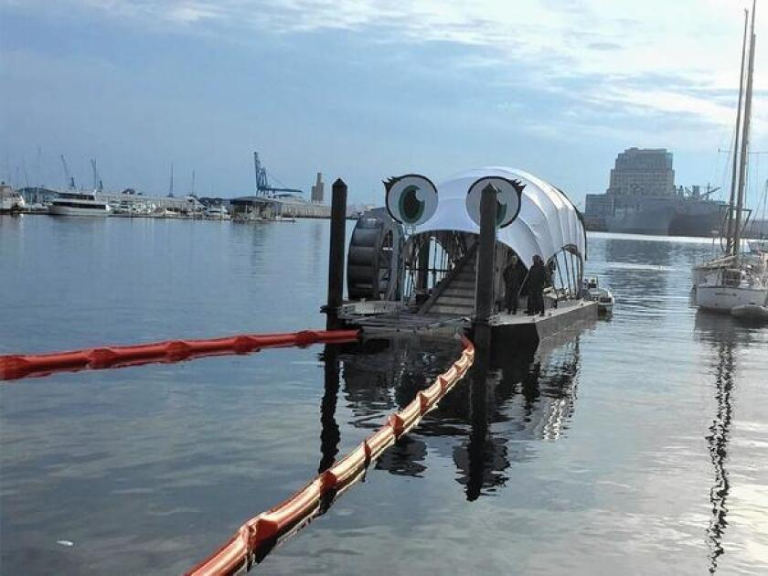 Baltimore's second water wheel, designed to scoop trash and debris out of the harbor, was unveiled last month, following a similar one that debuted in 2014. The concept is proposed for Upper Newport Bay.