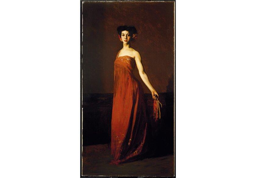 """Detail of Robert Henri, """"Spanish Dancer, Sevillana,"""" 1904"""