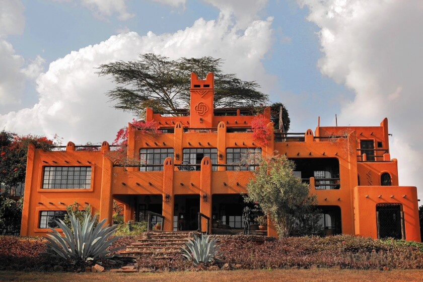 The African Heritage House, which overlooks Nairobi National Park, was built by American Alan Donovan.