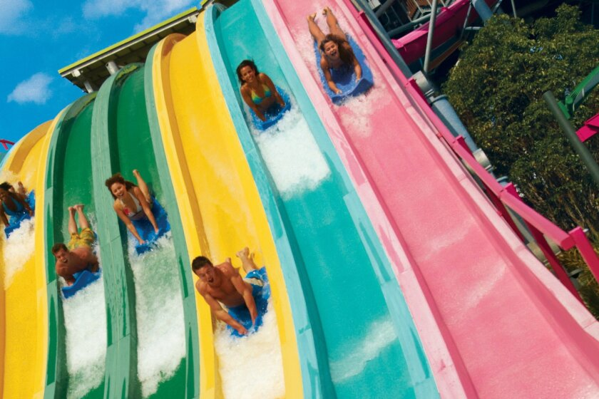 Taumata Racer, a new high-speed racing water slide, will debut Memorial Day weekend of next year at Aquatica SeaWorld's Waterpark in Chula Vista.