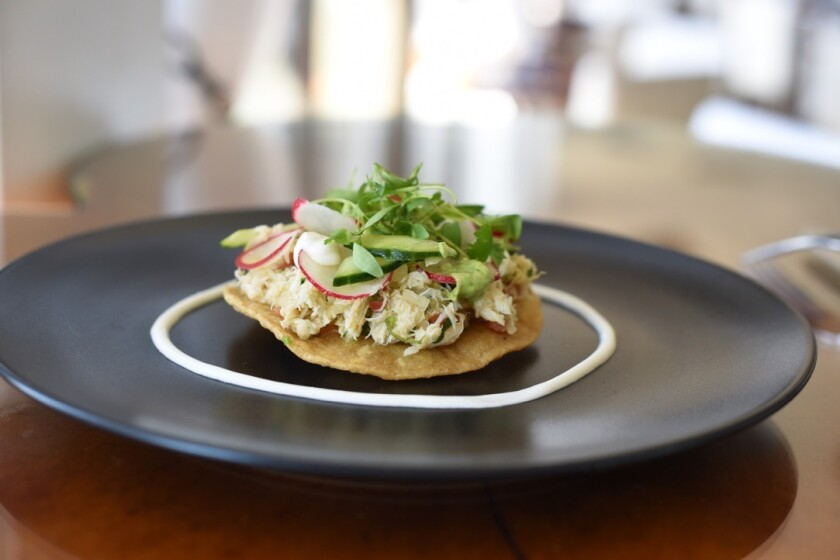Cold Crab Tostada from Cusp. (Courtesy photo)