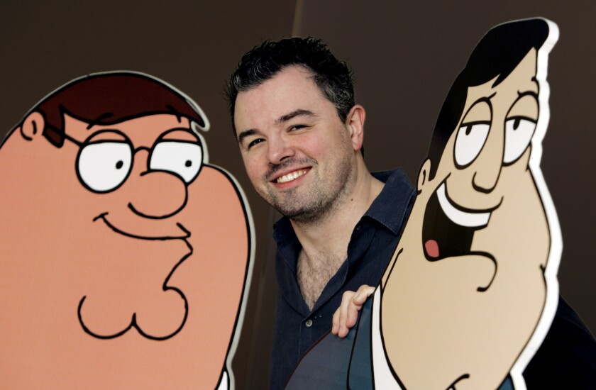 "Seth MacFarlane, the creator of the animated series ""Family Guy"""