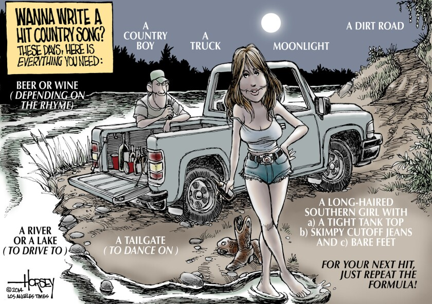 Here's an easy formula for a hit bro-country song: a guy, a gal and a truck.