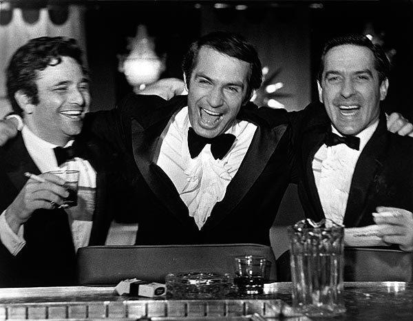"Peter Falk, left, Ben Gazzara and John Cassavetes in Cassavetes' 1970 film ""Husbands."" See obituary"
