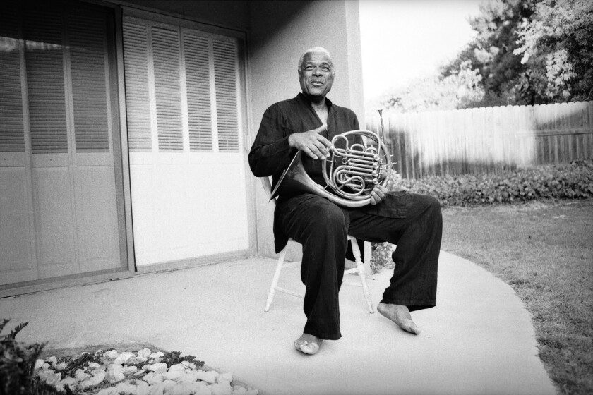 Robert Watt, whom the Los Angeles Philharmonic says was the first African American to play French horn in a major U.S. orchestra.