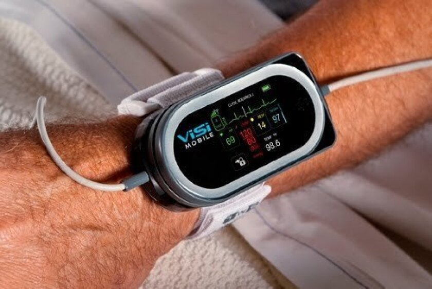 The ViSi device can be programmed to show all the core vital signs, including temperature, pulse and heart rate.