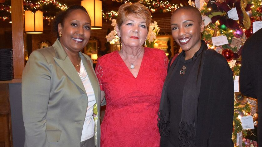 Donna Ford, from left, Susan Noce and Arielle Ford attend the Hillsides party. (Courtesy of Alison