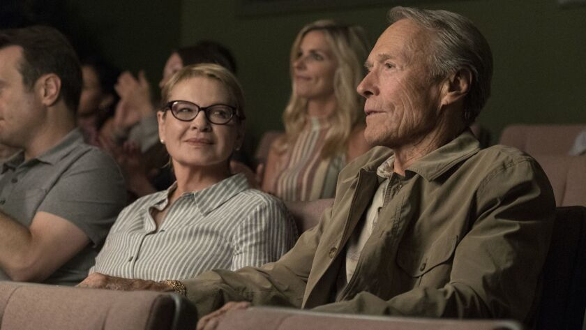 This image released by Warner Bros. Pictures shows Dianne Wiest, left, and Clint Eastwood in a scene