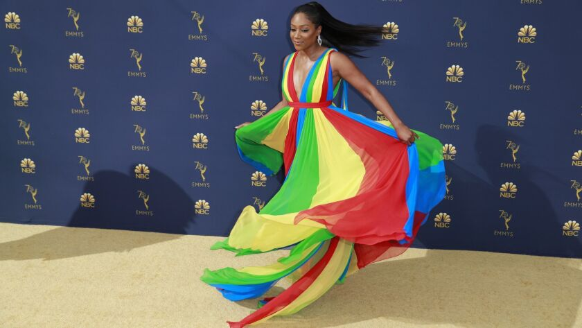 LOS ANGELES, CA., September 17, 2018: Tiffany Haddish?arriving at the 70th Primetime Emmy Awards at