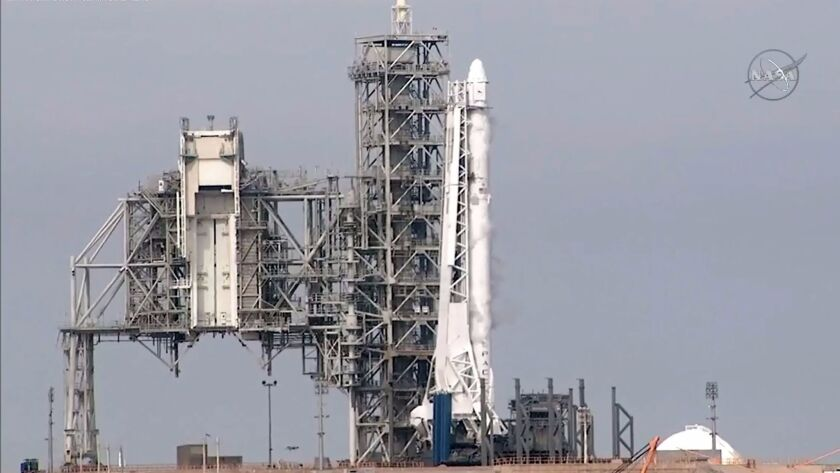 SpaceX canceled the Falcon 9 rocket launch to the International Space Station just seconds before liftoff because of a technical issue on Saturday.