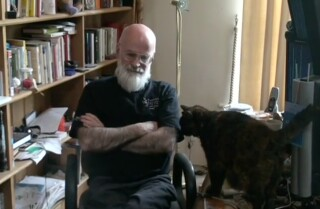 Terry Pratchett accepts Los Angeles Times Book Prize